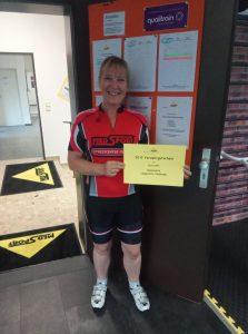 Elke Kern, Gewinnerin der MedSport Liegestütz-Challenge