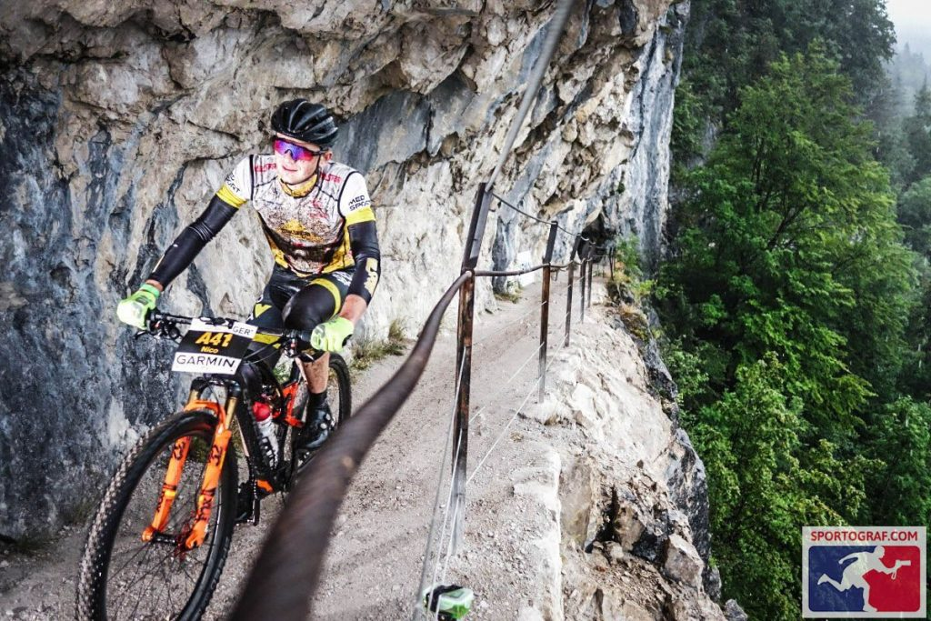 Nico Bortscheller, Salzkammergut Mountainbike Trophy 2021, Erste Runde über die Ewige Wand